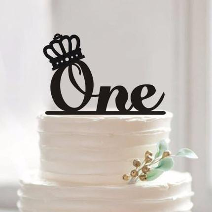 Cake Topper One Year Old First Birthday Baby Shower 1st