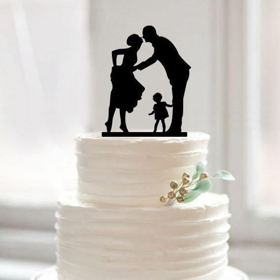 Wedding Cake Topper (Sweet Family /Girl Daughter Child Children Baby) - CHARMERRY