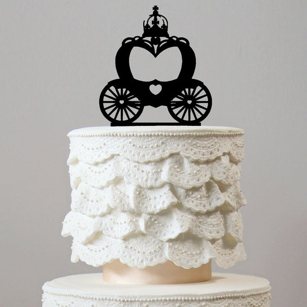 cake topper wedding birthday party pumpkin carriage cinderella fairy tale charmerry