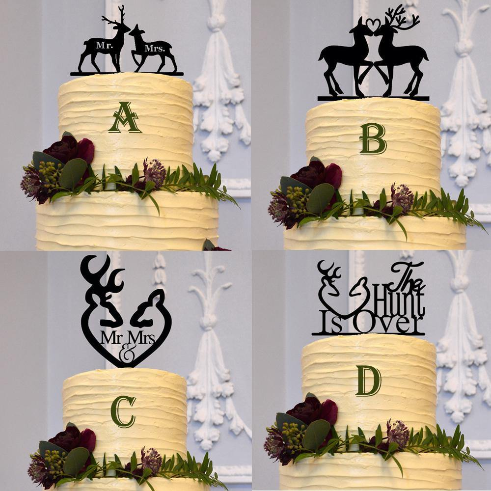 Deer Cake Topper For Country Vintage Rustic Weddings Buck Doe