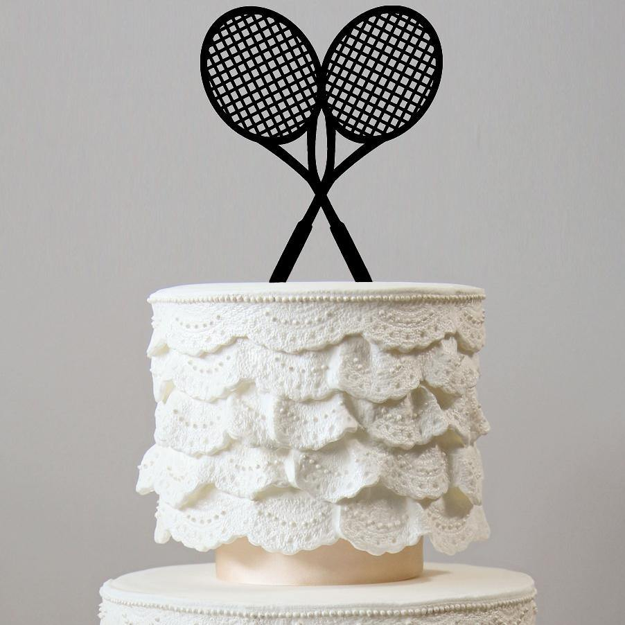 cake toppers for tennis lovers players wedding birthday celebration event party decorating decorations charmerry