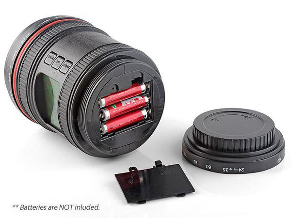 Camera Lens Alarm Clock (Gifts for Photographers, Canon &Nikon Fans)