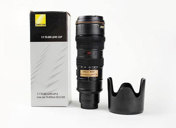 Camera Lens Thermos /Tea Coffee Mug Gift for Photographers &Nikon Fans [14oz.]