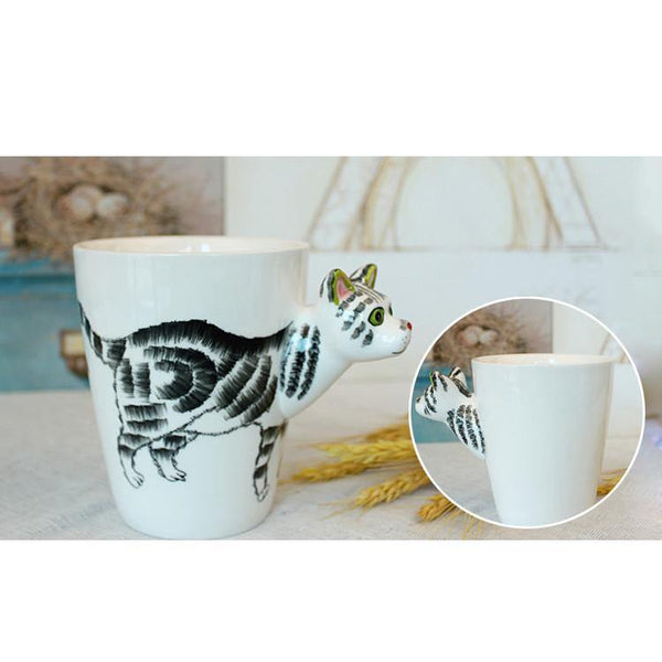 Cat Coffee Mug -Unique Ceramic Tea Cup (Special Gifts, Creative &Novelty)