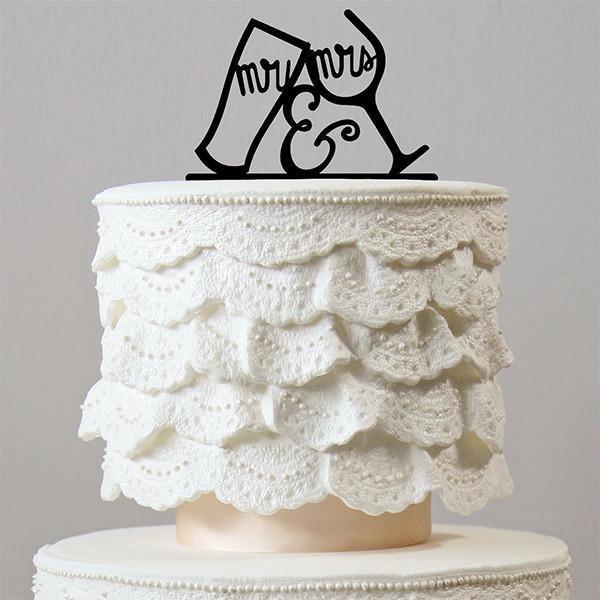 Celebrating Wedding Cake Topper (Mr & Mrs /Cheer Up /Glass Cup)