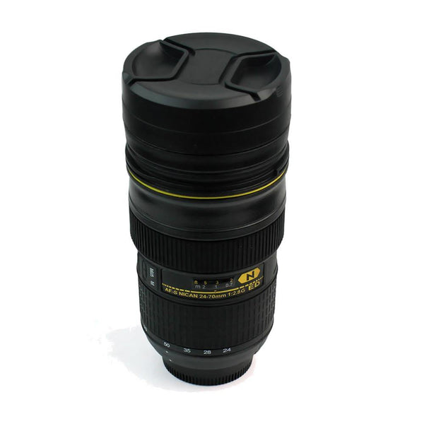 Camera Lens Mug /Tea Coffee Cup Gift for Photographers &Nikon Fans [13.5oz.]