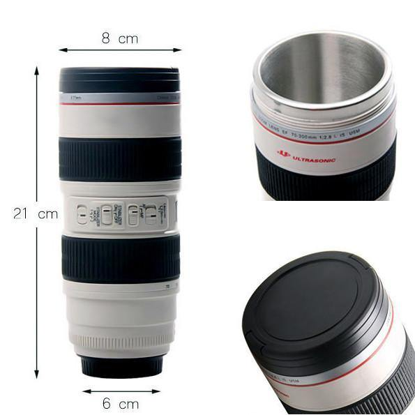 Camera Lens Mug /Tea Coffee Cup Gift for Photographers &Canon Fans [19oz.]
