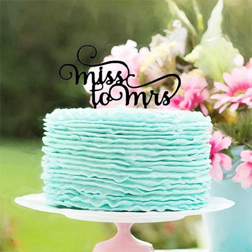 Miss to Mrs Cake Topper for Wedding Engagement Bridal Shower Party
