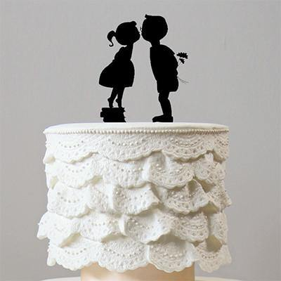 Cake Topper for Engagement, Wedding, Anniversary &Valentine Party Cakes
