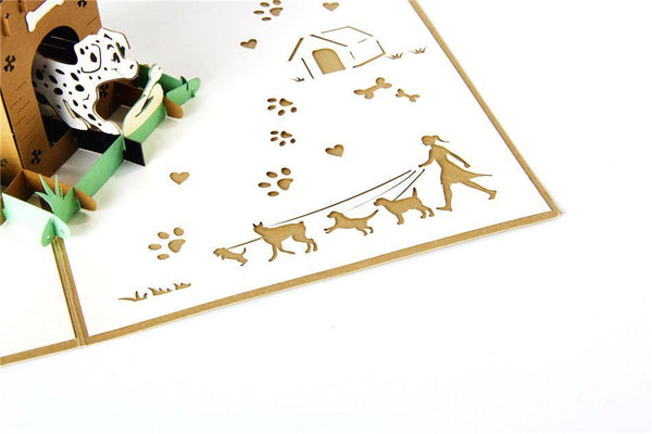 Dalmatian Dog Birthday Card /Cartoon Puppy Greeting Card /Pet Postcard