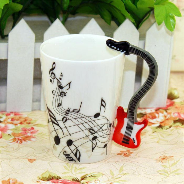 Electric Guitar Coffee Mug /Tea Cup Gift for Rockers & Music Lovers