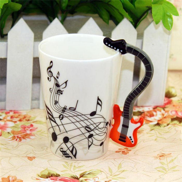 Bass Coffee Mug /Electric Guitar Tea Cup Gift for Rockers & Music Lovers