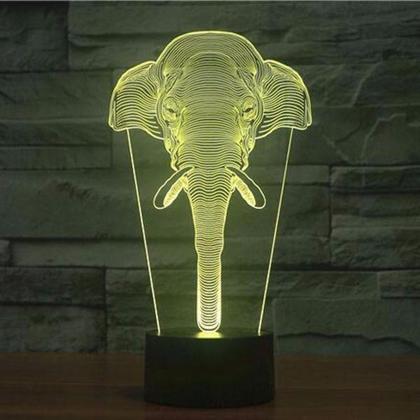 Elephant Night Light (LED 3D Lamp Home Decor Design Decoration Wild Africa)