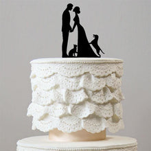 Load image into Gallery viewer, Engagement /Wedding Cake Topper 1 Dog &1 Cat (Happy Family Pets /Puppy) - CHARMERRY