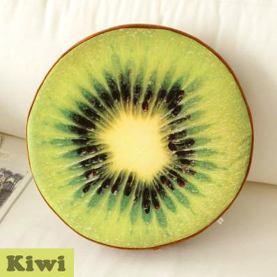 Wood/ Orange/ Watermelon/ Kiwi/ Dragon Fruit Round Cushion
