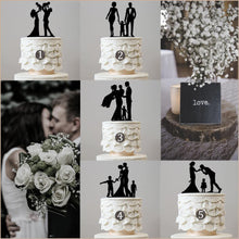 Load image into Gallery viewer, family wedding cake topper boy girl son daughter baby mother to be chic classy simple elegant keepsakes style themes decor favors decoration charmerry a0