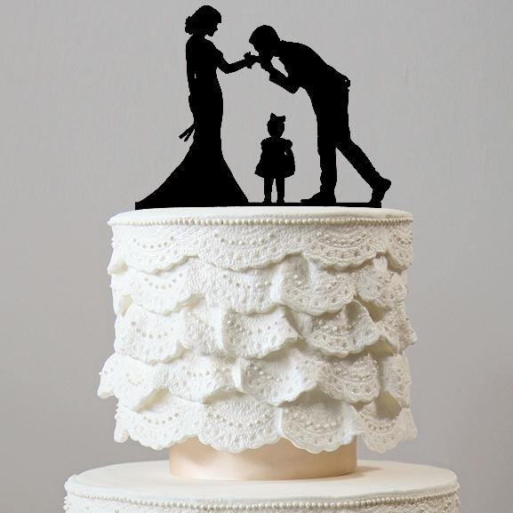 family wedding cake topper boy girl son daughter baby mother to be chic classy simple elegant keepsakes style themes decor favors decoration charmerry a5