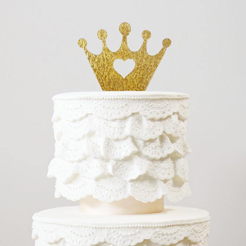 Crown Birthday Cake Topper Girls Party Decoration Baby Shower