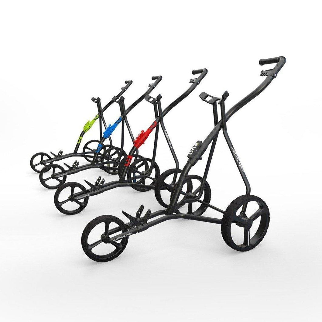 Golf Trolley - 3 Wheels Push-Pull Golf Cart (Wishbone ONE Megalight 3) - CHARMERRY