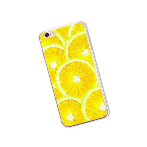 iphone cases protective phone covers x 8 plus 7 6s 6 5 5s se lemon lime summer colorful fruits yellow green color art pattern fresh spring simple chic mobile shell protector transparent unobtrusive fashion charmerry a7