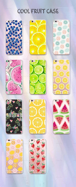 iphone cases protective phone covers x 8 plus 7 6s 6 5 5s se lemon lime summer colorful fruits yellow green color art pattern fresh spring simple chic mobile shell protector transparent unobtrusive fashion charmerry a8