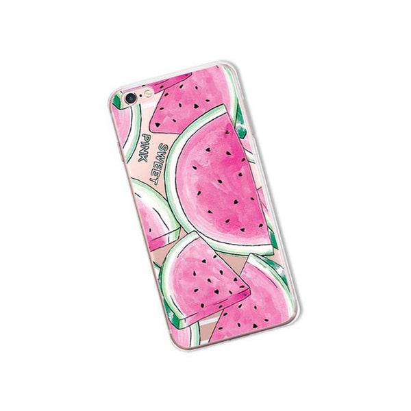 iPhone Cases, Protective Phone Covers X 8 Plus 7 6s 6 5 5s SE ( Watermelon, Hawaii & Summer Fruits | Tropical Island & Beach Party )