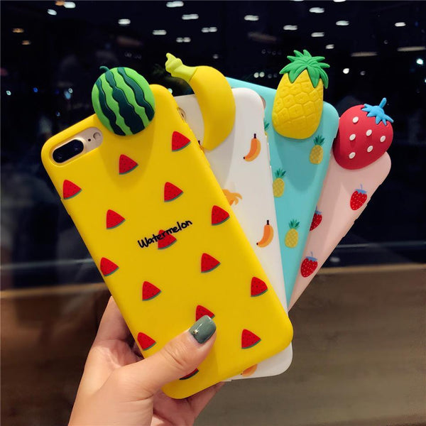 iphone cases protective phone covers x 8 plus 7 6s 6 banana fruits yellow white chic fashion street style mix match casual outfit mobile color shell protector charmerry a5