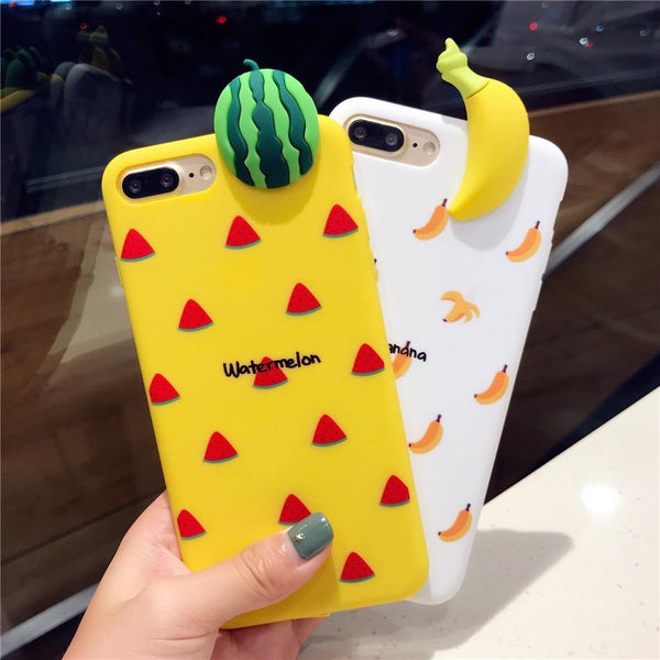 iphone cases protective phone covers x 8 plus 7 6s 6 banana fruits yellow white chic fashion street style mix match casual outfit mobile color shell protector charmerry a4