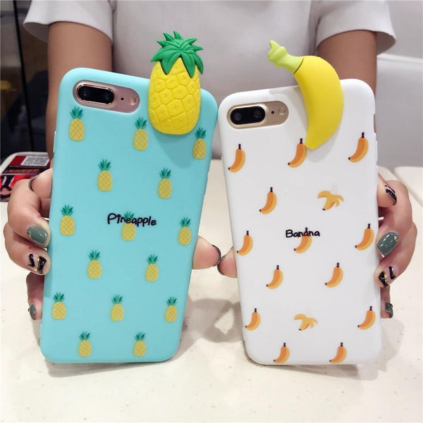 iphone cases protective phone covers x 8 plus 7 6s 6 banana fruits yellow white chic fashion street style mix match casual outfit mobile color shell protector charmerry a2