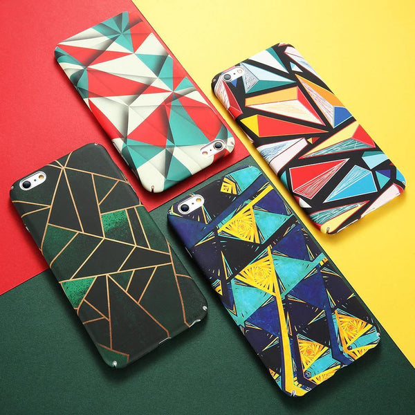 iphone cases protective phone covers x 8 plus 7 6s 6 chic colorful fashion abstract art style modern avant garde mix match outfit style mobile color shell protector charmerry a7