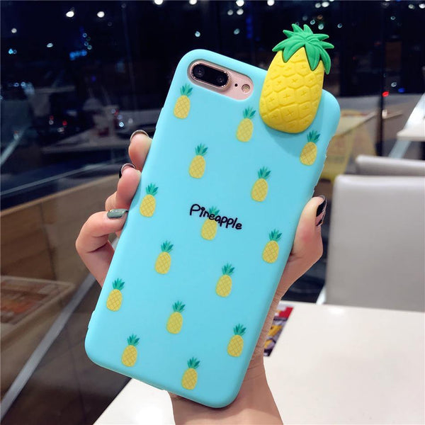 iphone cases protective phone covers x 8 plus 7 6s 6 pineapple summer tropical fruits tiffany blue green mobile color shell protector mix match outfit style beach pool party charmerry a1