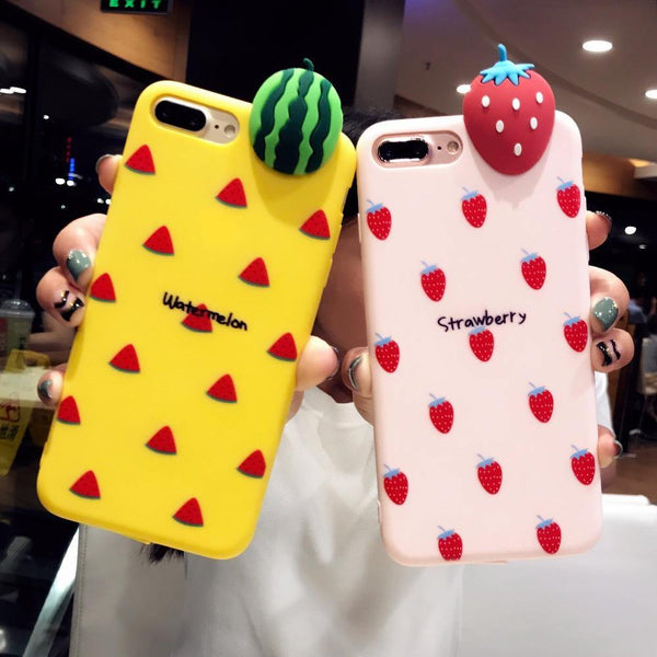 iphone cases protective phone covers x 8 plus 7 6s 6 watermelon summer beach party fruits yellow mobile bright color shell protector mix match outfit style charmerry a3