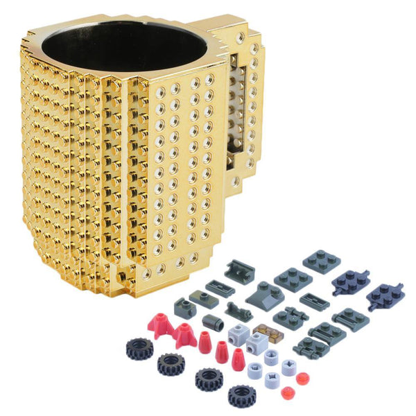 Coffee Mug for LEGO Fans (Bricks Baseplate /Building Blocks Gift Cup) [Limited Edition: Sliver]