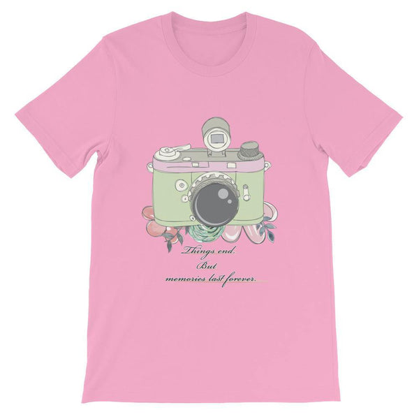 Camera Photography T-Shirt (Simple, Designer &Casual Tees) [Things End But Memories Last Forever]