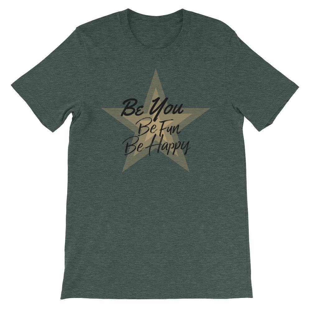 Star T-Shirts (Stylish Designer Summer Tees /Unisex Simple &Fashion) [Be You Be Fun Be Happy]
