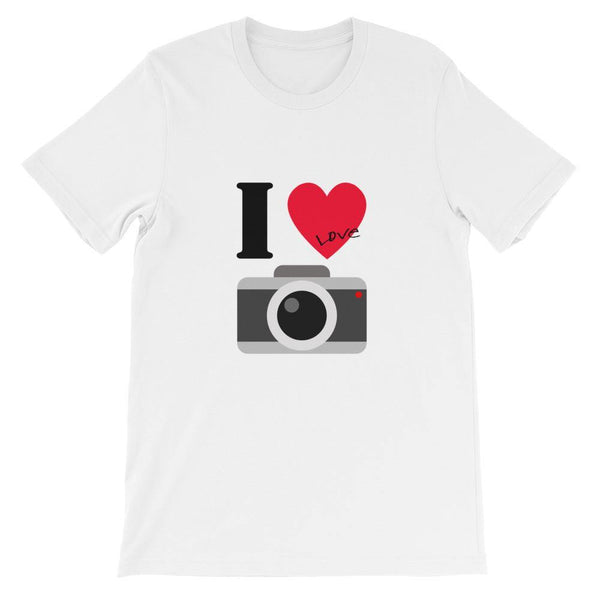 I Love Camera Photography T-Shirt (Summer Smart Casual /Simple Stylish) [White &Color /Men &Women]