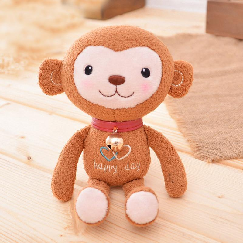 Monkey Stuffed Animal Plush Toy Gift Rag Doll Keychain Key Ring