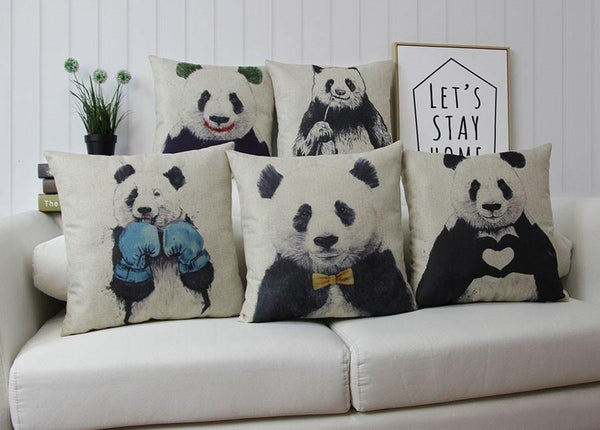 Panda Pillow Case (Accent Cushion Covers /Decorative Throw Pillowcases)[Boxing]