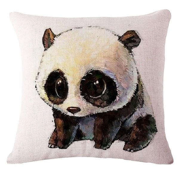 Panda Pillow Cushion (Decorative Accent Pillow & Toss Throw Pillow)