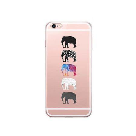 iPhone 7 Case -Elephant Art Design iPhone7 Phone Cover [Transparent /Slim Scratch Drop Protection]