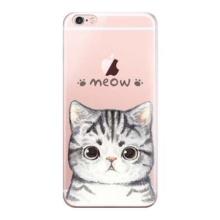 iPhone 7 Case -Cat iPhone7 Slim Cover (Scratch, Shock &Drop Protection)