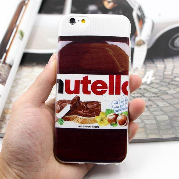iPhone 7 Plus Case - Cartoon /Comics /Pop Art Design iPhone7 Slim Cover [Nutella /Transparent]
