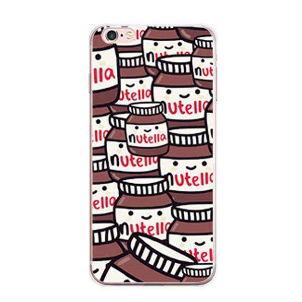 iPhone 7 Case - Pop Art /Cartoon /Comics iPhone7 Protective Cover [Nutella /Transparent Protection]