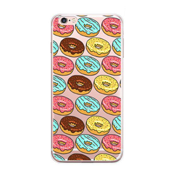 iPhone 7 Case - Pop Art /Cartoon /Comics Cover [Desserts /Chocolate Donuts /Colorful French Macaron]