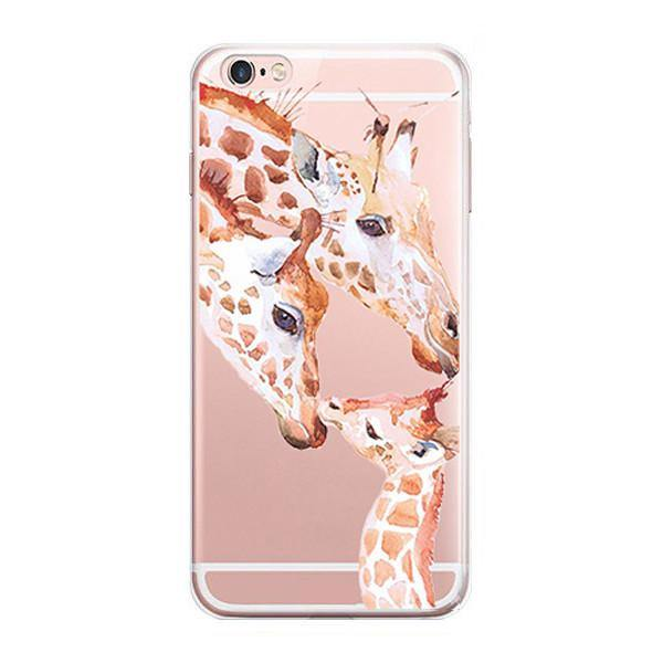 iPhone 7 Case -Giraffe iPhone7 Cover (Scratch, Shock &Drop Protection)