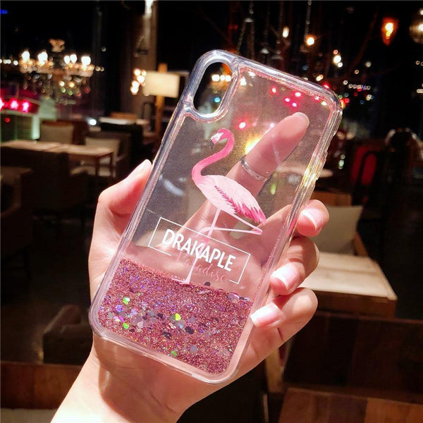 pink iphone cases x 8 plus 7 6s 6 chic fashion outfit sparkle glitter shining bling bling cute pretty style lovely sweet gifts fantasy charmerry a3