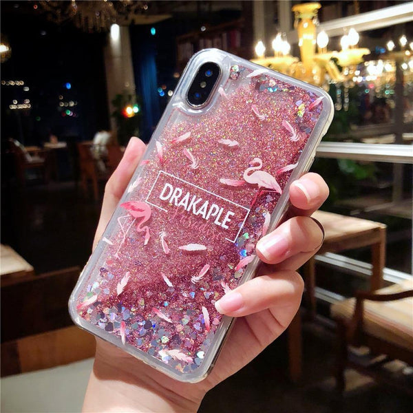 pink iphone cases x 8 plus 7 6s 6 chic fashion outfit sparkle glitter shining bling bling cute pretty style lovely sweet gifts fantasy charmerry a2