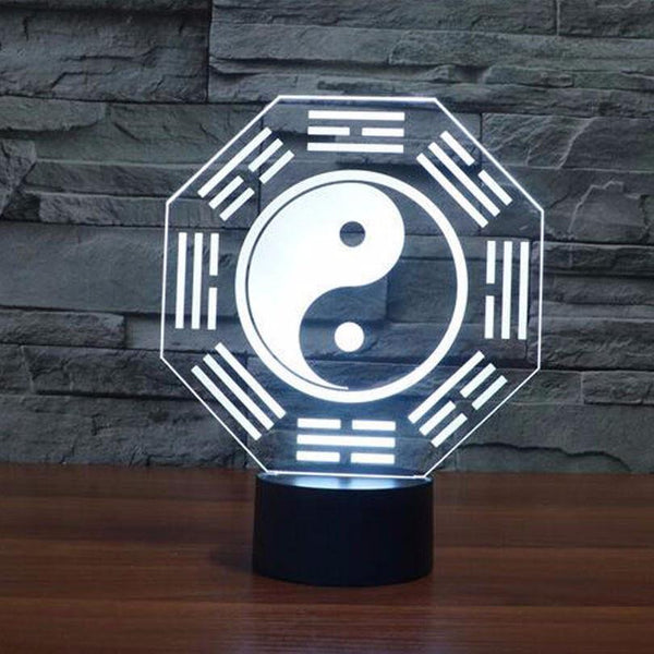 Bagua Night Light Sign (Chinese Symbol LED 3D Lamp /Room Home Decor) [Feng Shui /Tai Chi /Kung Fu]