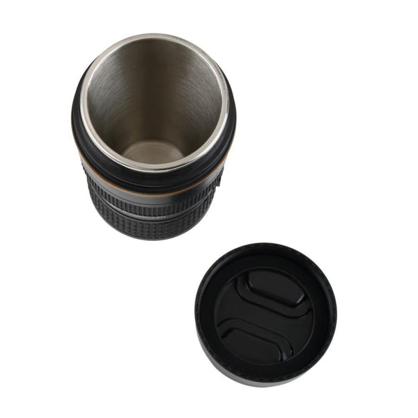 Camera Lens Mug /Tea Coffee Cup Gift for Photographers &Nikon Fans [13.5oz. /Zoomable Edition]
