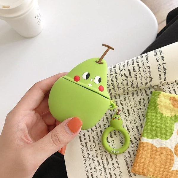 Airpods Pro Case Cover - Season Fruits 3D (Strawberry, watermelon, pear, peach, orange, avocado)